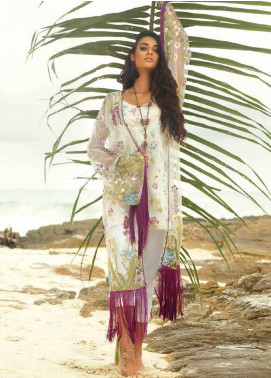 Coco By Zara Shahjahan Embroidered Lawn Unstitched 3 Piece Suit COC18L 4B - Eid Collection