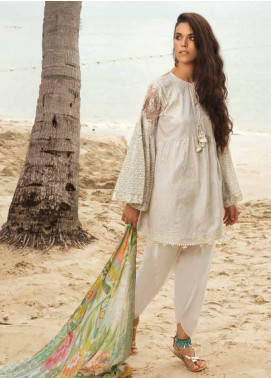 Coco By Zara Shahjahan Embroidered Lawn Unstitched 3 Piece Suit COC18L 5A - Eid Collection