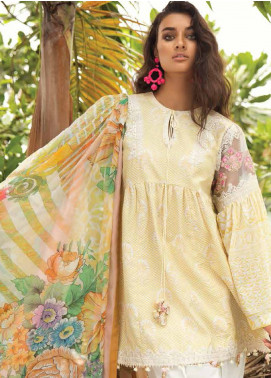Coco By Zara Shahjahan Embroidered Lawn Unstitched 3 Piece Suit COC18L 5B - Eid Collection