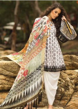 Coco By Zara Shahjahan Embroidered Lawn Unstitched 3 Piece Suit COC18L 6A - Eid Collection