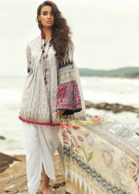 Coco By Zara Shahjahan Embroidered Lawn Unstitched 3 Piece Suit COC18L 6B - Eid Collection