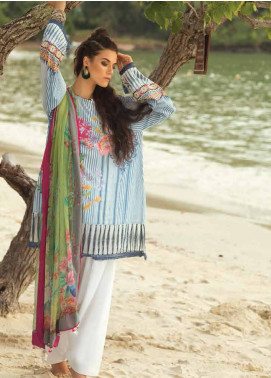 Coco By Zara Shahjahan Embroidered Lawn Unstitched 3 Piece Suit COC18L 7A - Eid Collection