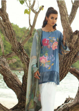 Coco By Zara Shahjahan Embroidered Lawn Unstitched 3 Piece Suit COC18L 7B - Eid Collection