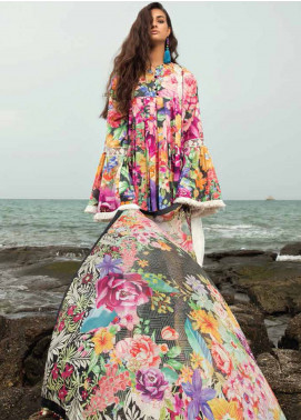Coco By Zara Shahjahan Embroidered Lawn Unstitched 3 Piece Suit COC18L 8A - Eid Collection