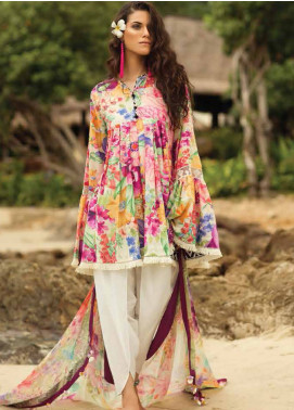 Coco By Zara Shahjahan Embroidered Lawn Unstitched 3 Piece Suit COC18L 8B - Eid Collection