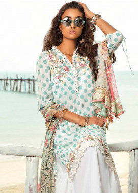 Coco By Zara Shahjahan Embroidered Lawn Unstitched 3 Piece Suit COC18L 9A - Eid Collection
