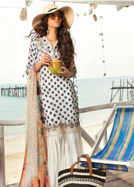 Coco By Zara Shahjahan Embroidered Lawn Unstitched 3 Piece Suit COC18L 9B - Eid Collection
