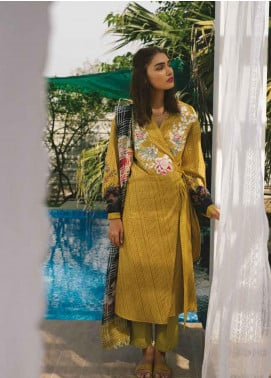 Coco by Zara Shahjahan Embroidered Lawn Unstitched 3 Piece Suit COC19L 3B - Spring / Summer Collection