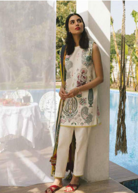 Coco by Zara Shahjahan Embroidered Lawn Unstitched 3 Piece Suit COC19L 4A - Spring / Summer Collection