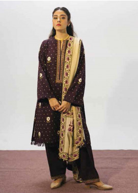 Coco By Zara Shahjahan Embroidered Khaddar Unstitched 3 Piece Suit CZS20W 06B - Winter Collection