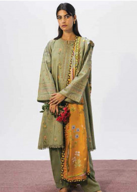 Coco By Zara Shahjahan Embroidered Linen Unstitched 3 Piece Suit CZS20W 07B - Winter Collection