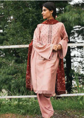 Coco By Zara Shahjahan Embroidered Linen Unstitched 3 Piece Suit CZS20W 08B - Winter Collection