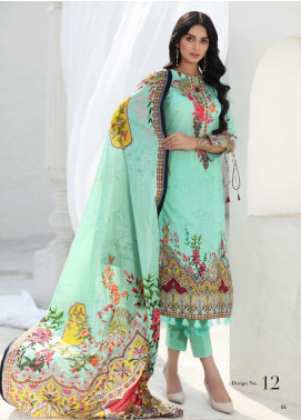 Coco by Al Zohaib Printed Lawn Unstitched 3 Piece Suit CO20AZ 12 - Summer Collection
