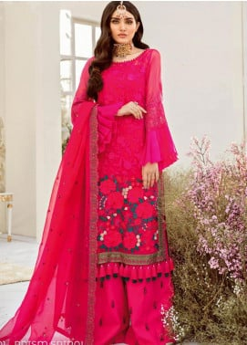 COIR Embroidered Chiffon Unstitched 3 Piece Suit CO19-C5 01 PRISM SPIRAL - Luxury Collection