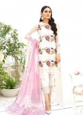 COIR Embroidered Chiffon Unstitched 3 Piece Suit CO19-C5 06 LUMEN BLOOM - Luxury Collection