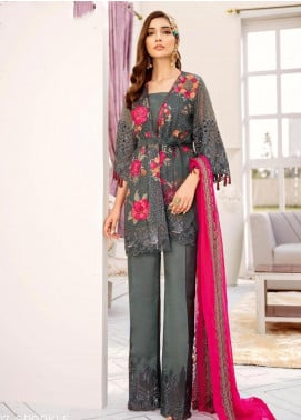 COIR Embroidered Chiffon Unstitched 3 Piece Suit CO19-C5 07 SPARKLE - Luxury Collection