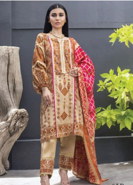Colors by Al Zohaib Printed Lawn Unstitched 3 Piece Suit AZ20CL 05-B - Spring / Summer Collection