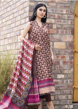 Colors by Al Zohaib Printed Lawn Unstitched 3 Piece Suit AZ20CL 07-B - Spring / Summer Collection
