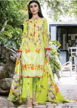 Colors by Al Zohaib Printed Lawn Unstitched 3 Piece Suit AZ20CL 09-B - Spring / Summer Collection