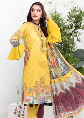 Colors by Al Zohaib Printed Lawn Unstitched 3 Piece Suit C20AZ 12B - Summer Collection