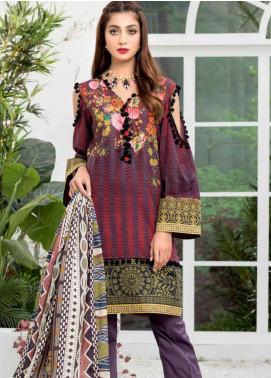Colors by Al Zohaib Printed Lawn Unstitched 3 Piece Suit C20AZ 15A - Summer Collection