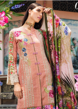 Coronation Embroidered Jacquard Unstitched 3 Piece Suit COR18E 02 - Festive Collection