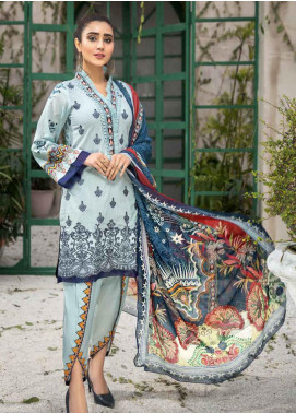 Coral by Jahanara Embroidered Lawn Unstitched 3 Piece Suit JN20CL-01 - Summer Collection