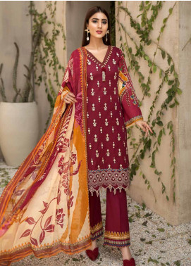 Coral by Jahanara Embroidered Lawn Unstitched 3 Piece Suit JN20CL-03 - Summer Collection