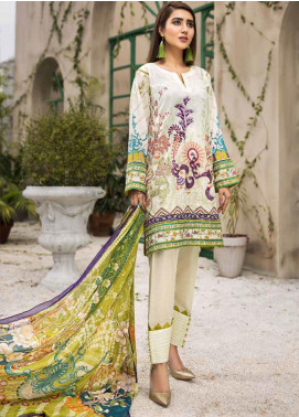 Coral by Jahanara Embroidered Lawn Unstitched 3 Piece Suit JN20CL-04 - Summer Collection