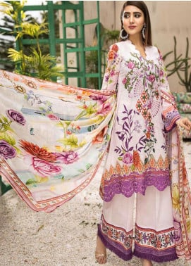 Coral by Jahanara Embroidered Lawn Unstitched 3 Piece Suit JN20CL-05 - Summer Collection