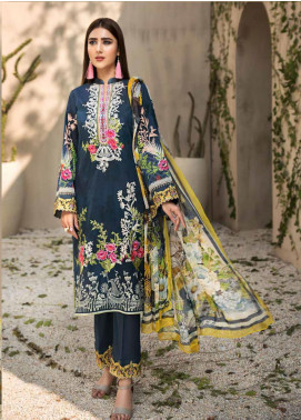 Coral by Jahanara Embroidered Lawn Unstitched 3 Piece Suit JN20CL-09 - Summer Collection