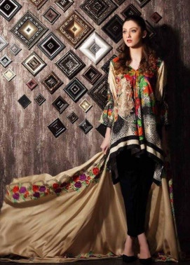 Charizma Embroidered Linen Unstitched 3 Piece Suit CR17W 01