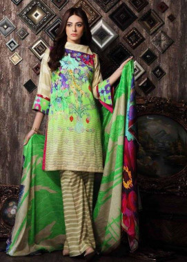 Charizma Embroidered Linen Unstitched 3 Piece Suit CR17W 02
