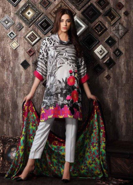 Charizma Embroidered Linen Unstitched 3 Piece Suit CR17W 03