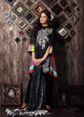 Charizma Embroidered Linen Unstitched 3 Piece Suit CR17W 04