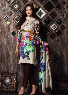 Charizma Embroidered Linen Unstitched 3 Piece Suit CR17W 05