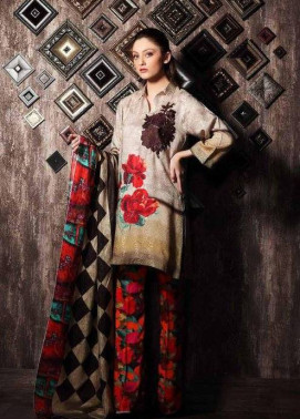 Charizma Embroidered Linen Unstitched 3 Piece Suit CR17W 07