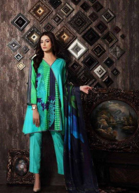Charizma Embroidered Linen Unstitched 3 Piece Suit CR17W 08