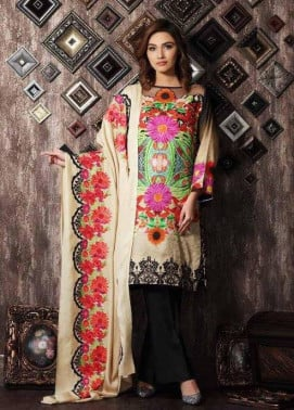Charizma Embroidered Linen Unstitched 3 Piece Suit CR17W 09