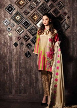 Charizma Embroidered Linen Unstitched 3 Piece Suit CR17W 11