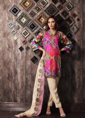 Charizma Embroidered Linen Unstitched 3 Piece Suit CR17W 12