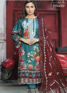 Creaze Embroidered Viscose Unstitched 3 Piece Suit CRE20-VC 19608 - Winter Collection