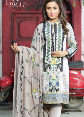 Creaze Embroidered Viscose Unstitched 3 Piece Suit CRE20-VC 19611 - Winter Collection