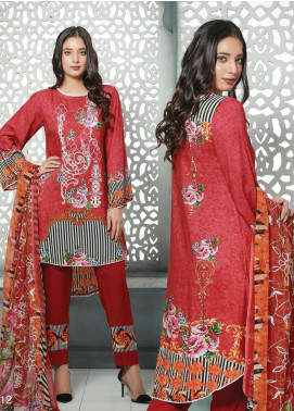 Creaze Embroidered Linen Unstitched 3 Piece Suit CRE19W 19529 - Winter Collection