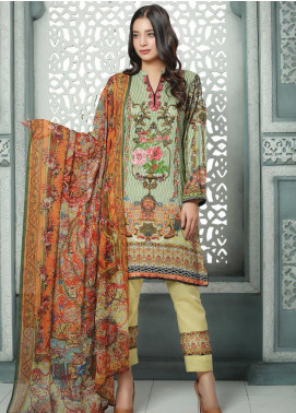 Creaze Embroidered Linen Unstitched 3 Piece Suit CRE19W 19531 - Winter Collection