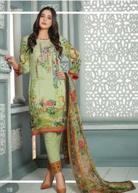 Creaze Embroidered Linen Unstitched 3 Piece Suit CRE19W 19532 - Winter Collection