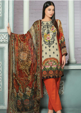 Creaze Embroidered Linen Unstitched 3 Piece Suit CRE19W 19533 - Winter Collection