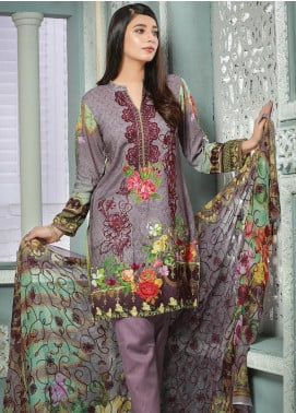 Creaze Embroidered Linen Unstitched 3 Piece Suit CRE19W 19534 - Winter Collection