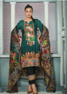 Creaze Embroidered Linen Unstitched 3 Piece Suit CRE19W 19535 - Winter Collection