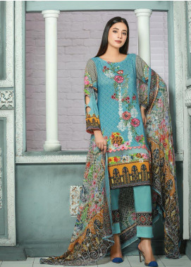 Creaze Embroidered Linen Unstitched 3 Piece Suit CRE19W 19536 - Winter Collection